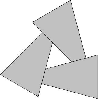 Figure 12-2: There is no way to sort these triangles back-to-front.