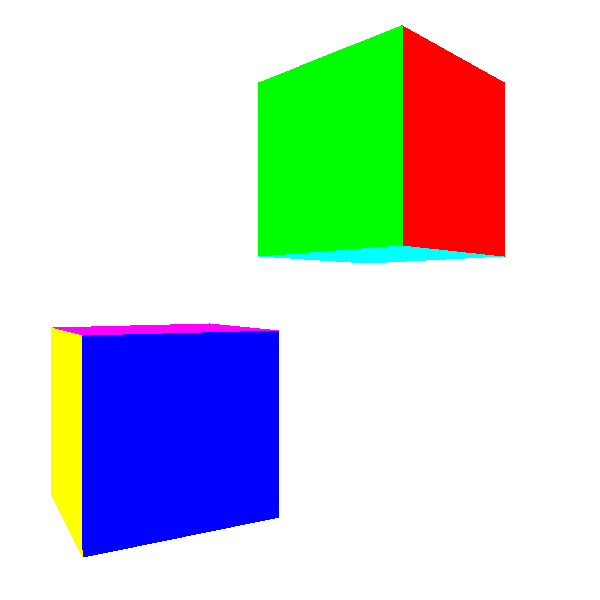 Figure 12-4: The cubes now look like cubes, regardless of the ordering of their triangles.