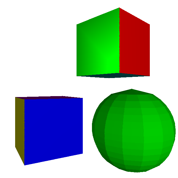 Figure 13-3: In Gouraud shading, we compute illumination at the vertices of the triangle and interpolate them across its surface.