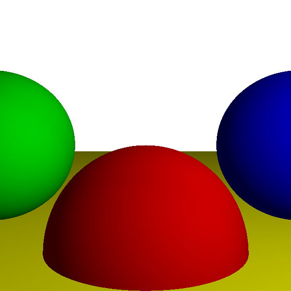 Figure 3-7: Diffuse reflection adds a sense of depth and volume to the scene.