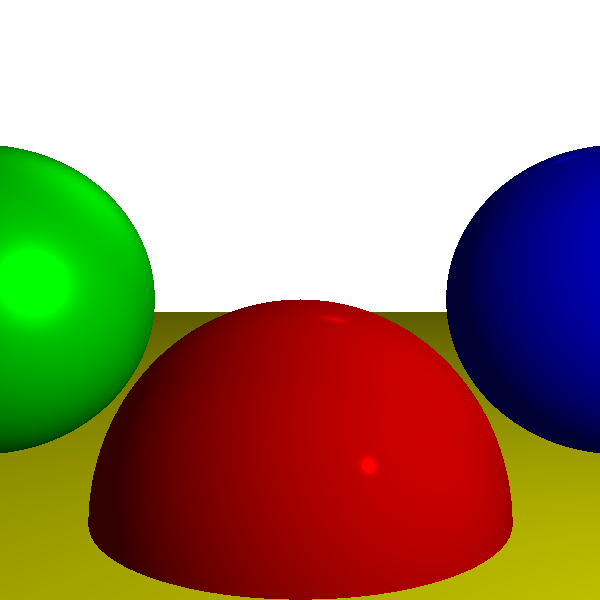 Figure 13-12: The reference scene, rendered by the raytracer